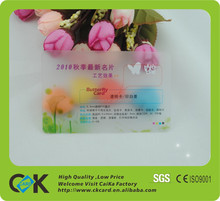 Hot selling cost effective fashion pvc clear transparent card