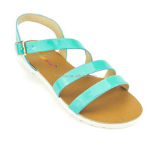 fast delivery factory outlets open toe flat sole simple design summer for girls clear pvc jelly shoes