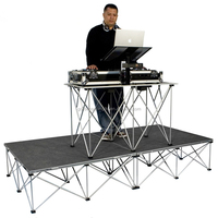 Easy set up aluminum portable stage podium for keyboard/music insturment