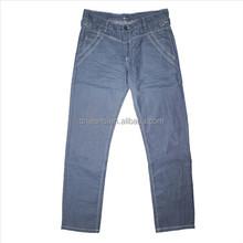 Apparel pants and trousers Stock men long pants Coated denim pants