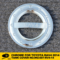 Chrome fuel tank cover cap for TOYOTA RAV4 2014 champ chromed car accessories