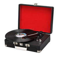 Portable Vinyl Turntable - 3 Speed Record, Built-In Speakers, 3.5 Headphone Output Jack, RCA Stereo Output Jacks