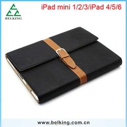 Fashion Retro Belt Stand Smart Leather Case for Ipad Mini 1 2 3