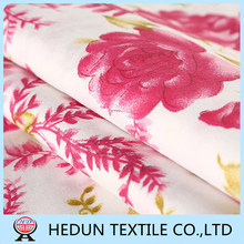 China Polyester fabric Textile Indonesia Digital Flower printed fabric