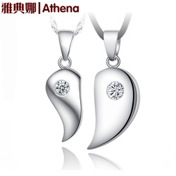 925 sterling silver pendant necklace Korean couple of high-quality silver jewelry wholesale Korean explosion models