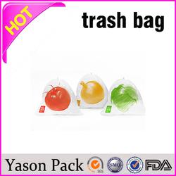 Yasonpack garbage bag on roll red garbage bags pe garbage bag