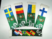 100% polyester satin printing world cup sports team promotional football fan Scarf
