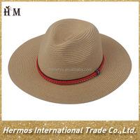 Fashion design women's sun chinese straw hat cheap custom no minimum wholesale panama hats