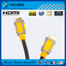 High end HDMI cable with gold plated high speed support 2.0v 1.4v