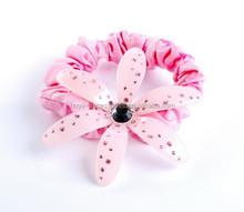 Rhinestone decorative acetate flower elastic hair band