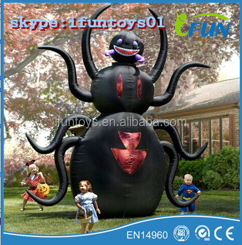 Massive inflatable animated spider inflatable halloween for Animated spider halloween decoration