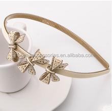 Wholesale girls hair accessories rhinestone knot baby headband