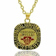 Custom jewelry 1998 Chicago bull Dynasty champion Necklace pendant