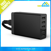 CE,FCC,ROHS multi mobile phone universal usb charger station,5V 6A 25W 5 port multi usb charger