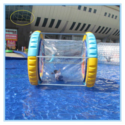 Best popular inflatable water roller, durable floating water wheel,mini water wheel for kid and adult
