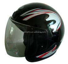 Open face motorcycle half helmet