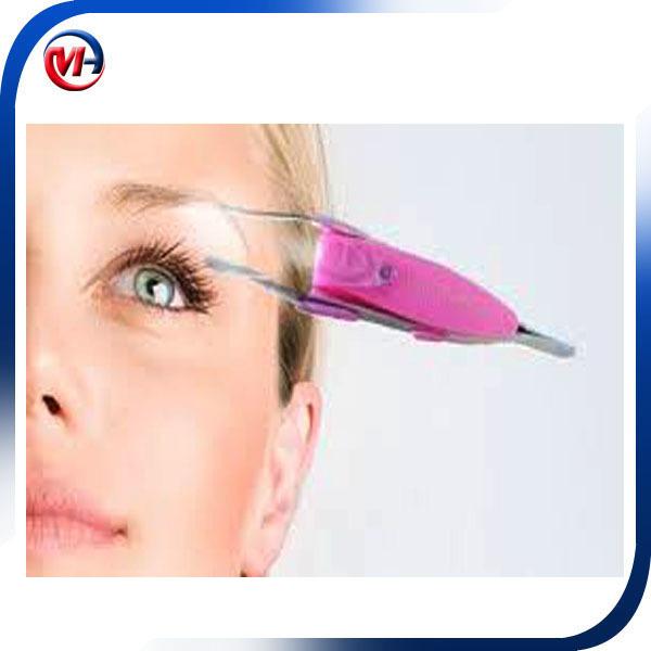 Stainless Steel Cosmetic Slanted Eyebrow and Eyelash Extension Tweezer