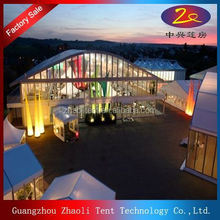 marquee party tent with lining and lights for decoration