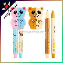 Lovely bear ball pens for kids,plastic cartoon ballpoint pen for promotion