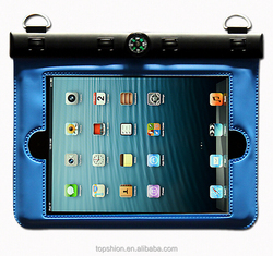 hot new products for 2015 swimming waterproof case for iPad 5, for ipad air waterproof bag case