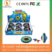 Wholesale flashing toy spinning top with music
