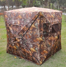 Autumn leaf camo pattern ground hunting blind for hunting