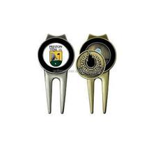 Golf Divot Repair Tool with Golf Marker