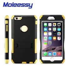 2015 new coming heavy duty kickstand hybrid case for iphone 6
