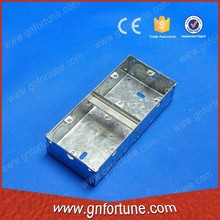 double gang waterproof gi electrical switch boxes