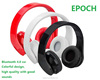 Patent foldable design bluetooth wireless headphones with wireless microphone