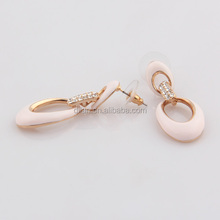 Elegant superior quality high costume fashion bali jewelry earring made with alloy pink enameled