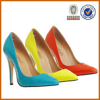 50pairs mix 2colors!! latest sexy high heel 2014/ 2015 women OEM leather shoes fashion lady dress shoes