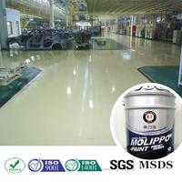 Solventless weather proof epoxy resin floor paint