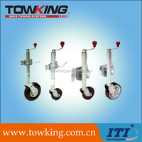 top crank zinc plated trailer parts trailer jack jockey wheel