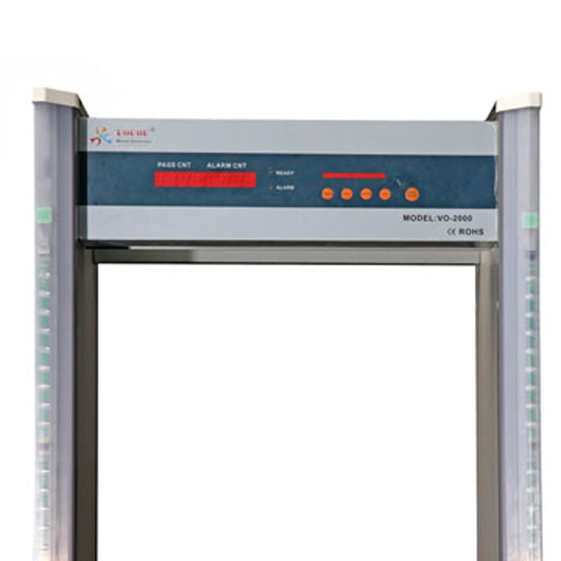 VO-2000 6 Zone Walk Through Metal Detector with LED light
