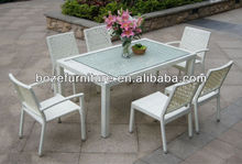 Leisure outdoor dining set Wicker Garden Dining Furniture Stacking Outdoor Chair