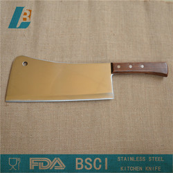 """Stainless steel Kitchen chopping knife with wooden handle 9"""""""