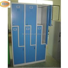 6 Door Z Shape Metal Clothes Locker And L Type Locker