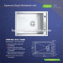 Top quality New Design American Standard Kitchen Sink Undermount Stainless Steel Franke Sink,Single Bowl Sink, ---R10-75480