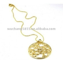popular necklace gold plated alloy necklace