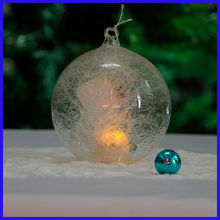 Beautiful Clear Attractive Spun Glass Ball with Led Light