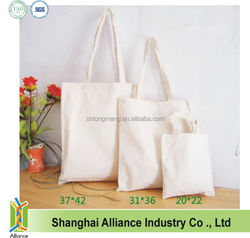 Promotional Blank Natural Cotton Tote Bags Canvas Cotton Shopper Cheap Cotton Bag