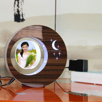 LED suspending in the air magnetic levitation photo frame latest gift items
