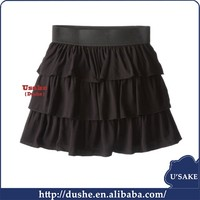 tiered mini dress black