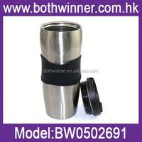 vacuum water mug , H0T011 350ml double wall stainless steel travel mug with push button closure lid , drinkware vacuum mugs