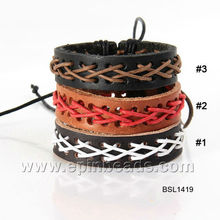 wholesale south Korean most popular leather wrap bracelet