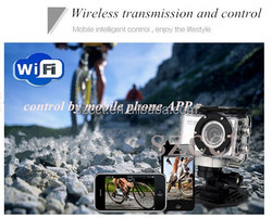 Shenzhen Good communication 120 degree upside down waterproof 55Meters Full hd 1080p action camera