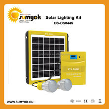 hot sale small power solar system,5W solar lighting kits/solar home system with CE and ROSH