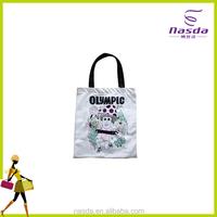 Laminated reusable non woven shopping bag, d cut non woven handbag