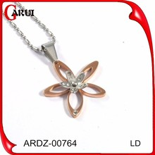 cheap present for mother newest flower design authentic gold necklace